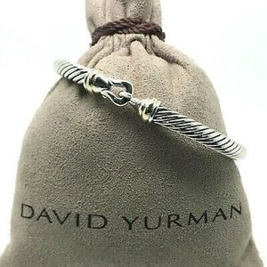 David Yurman 5mm Gold Buckle Bracelet